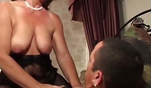 Awesome busty experienced female is fucking my man meat