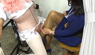 Sissy Stocking Jerking