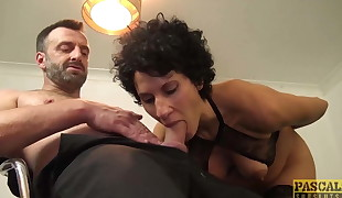 Trouser snake craving English wench blasted with cock and jizm