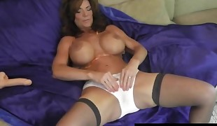 Hot Milf Deauxma Drizzles A Puddle After Dildo Fuckin' Fuckbox