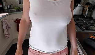 Phat tits braless unexperienced