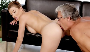 DADDY4K. Victoria',s dirty fantasy came true with her beau parent