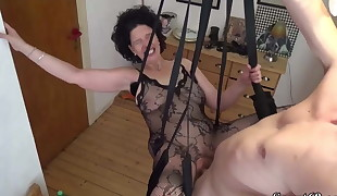 German Step-Son Fuck Mother with Tights in Enjoy Swing