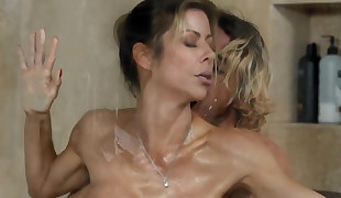 Sonny Caught Step-Mommy Alexis Fawx Working at Nuru Massage!