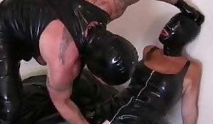 Latex Blowjob and FInger