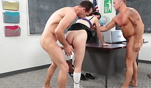 Two big stiffys for schoolgirl Allora Ashlyn
