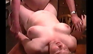 Mature BBW Fucked by Hubbies Acquaintance on Kitchen Table