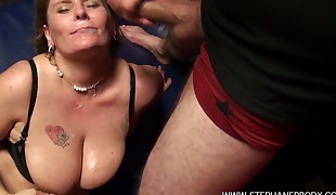 A Belgian BBW gets fucked in the chain like a whore
