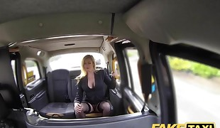 Fake Cab Great tits fabulous Cougar in ebony lingerie